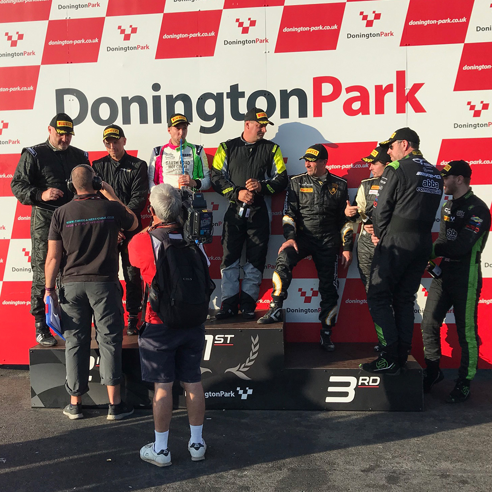 topcats team on winning podium at donington park