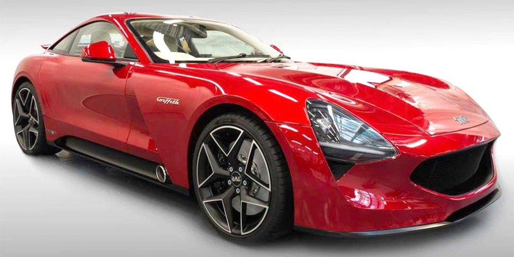 new red tvr griffith concept car for sale at topcats racing