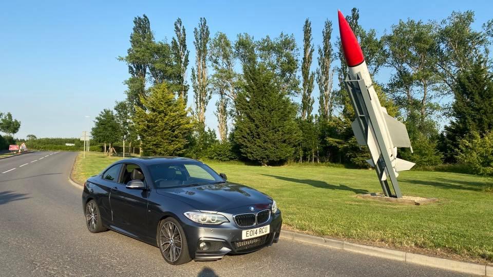 BMW M225d M Sport (2014) at topcats racing workshop